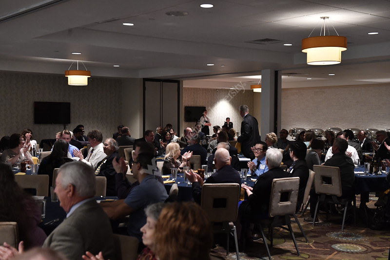 The LANE Department of Computer Science and Electrical Engineering holds their annual Academy Induction Banquet at the Holiday Inn April 27th, 2018.  Photo Brian Persinger