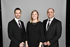 Orthodontics students from the WVU School of Dentistry L to R  Dr. Tyler Crowe,  Dr. Peter Ngan, Dr. MacKenzie Boyles, Dr. Amer Shammaa pose for a Graduate Photo at the OWF studio April 23, 2018. Photo Greg Ellis