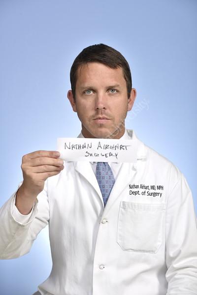 Portrait Nathan Airhart HSC Studio department of surgery April 12, 2018. Photo Greg Ellis