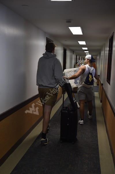 Students returned to Morgantown for the school year on Move In Day. August 11, 2018.