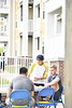 Collage Park Apartments hosts a cookout on their deck August 16th, 2018.  Photo Brian Persinger
