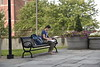Students on Downtown and Evansdale Campus during the first week of class August 22, 2018. Photo Hunter Tankersley.