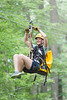 Student Veteran ziplining at Coopers Rock on Saturday, August 25, 2018. Photo by Hunter Tankersley. The university sponsored event was held to celebrate their return to the campus.