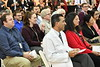 Members of the WVU Medical and Morgantown community come together at the HSC Paylons for the  Flink Chair Investiture of Arif Sarwari. December 3, 2018. Photo Greg Ellis
