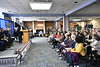 WVU Veterans their family's friends and community members join together at the WVU Veterans and Military Family Support HQ Ribbon Cutting December 7, 2018. Photo Greg Ellis