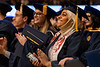 Shaikha Alwahaibi Biology , From Oman smiles at the conclusion of the Eberly College of Arts and Science and the John Chambers College of Business and Economics December 2018 Commencement at the WVU Coliseum , December 12, 2018. Photo Greg Ellis