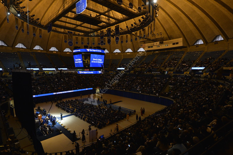 Graduates participated in the 2018 December graduation ceremony at the WVU Coliseum on December 15, 2018.