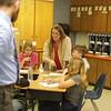 Brian Smith and Joanna Burt-Kikderman (red)<br /> 34192 WVU Magazine Pochantas Math<br /> WVU Photo/ Raymond Thompson