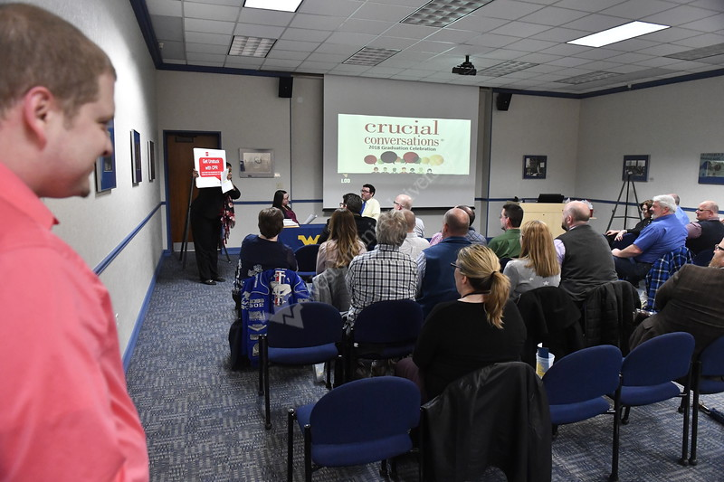 LOD of Talent and Culture holds their Crucial Conversations graduation in the Mountainlair February 1st, 2018.  Photo Brian Persinger