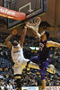 WVU Mountaineers game action vs TCU Horned Frogs. WVU wins 82 to 68 February 12, 2018. Photo Greg Ellis