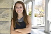 Emma Harrison a Junior in Political Science poses for photographs on the downtown campus February 20th, 2018.  Photo Brian Persinger