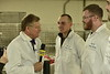 WVU President E. Gordon Gee interviews members of the WVU Poultry Team for his latest Gee Mail Undercover Boss II, February 9, 2018. Photo Greg Ellis