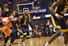 The WVU men's basketball team faces off against Oklahoma State University in the WVU Coliseum Feb. 10, 2017 in Morgantown, W. Va. After an intese matchup, the Mountaineers fell to the COwboys with a final score 0f 85-88.