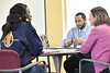 Department of Public Administration students interact during class February 12, 2018. Photo Greg Ellis