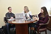 WVU students work with advisers at the CLASS (Center for Learning, Advising and Student Success ) Student Center, this is the first academic home for some students whose degree programs don't have direct admission to their major.  January 24, 2018. Photo Greg Ellis