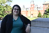 Associate Professor of Political Science Christina Fattore poses for photographs outside Woodburn Hall July 9th, 2018.  Photo Brian Persinger