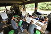 WV 4H Middle school students take part in the WVU ArgiSTEM Camp held at Coppers Rock State Forest July 24, 2018. Photo Greg Ellis