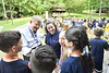 WVU President E. Gordon Gee, takes Gee Mail on the road to WV 4-H Camp Muffly. Gee  interviews and interacts with campers and staff June 12, 2018. Photo Greg Ellis