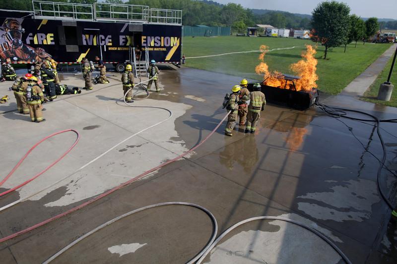Junior Fire Training, in Jackson Mill WV.<br /> 34663 WVU Mag Summer Camps<br /> WVU Photo/ Raymond Thompson<br /> WVU Magazine