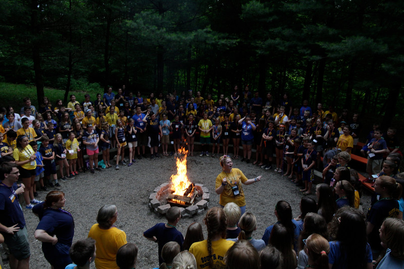 4H Camp at Camp Muffy, in Morgantown WV.<br /> 34663 WVU Mag Summer Camps<br /> WVU Photo/ Raymond Thompson<br /> WVU Magazine
