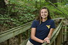 Davis College of Agriculture, Natural Resources and Design's Wildlife and Fisheries Alumna Sydney White poses for photographs in the Core Arboretum and Percival Hall June 20th, 2018.  Photo Brian Persinger