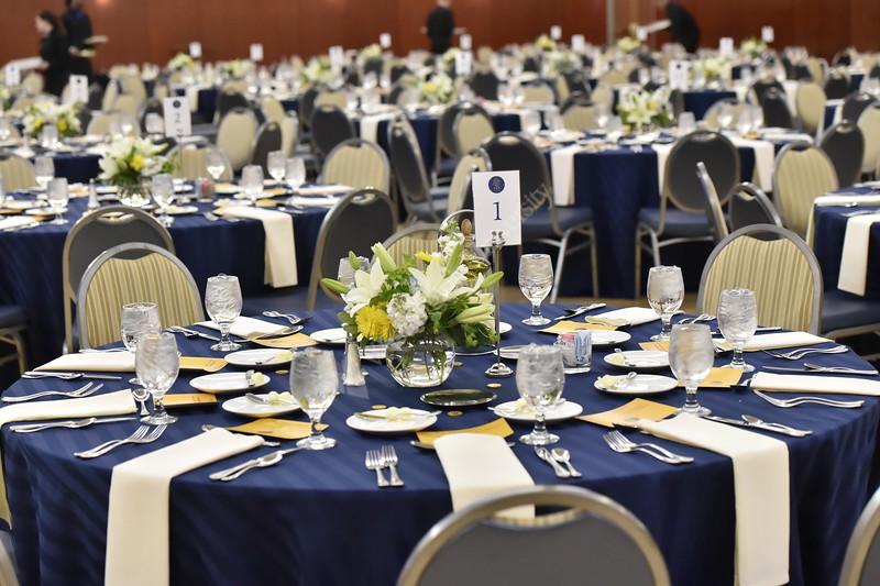 WVU Faculty gather to celebrate Mountaineer Values at the Erickson Alumni Center on March 27, 2018.