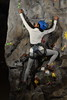 Tegan Bratcher climbs on the rockwall at the Rec Center March 2nd, 2018.  Photo Brian Persinger