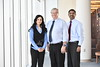 Faculty from the WVU School Of Dentistry (L to R) Hiba Qari Jerry Bouqout Ashok Balasundarak  pose for photos March 5, 2018. Photo Greg Ellis