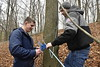 Professor Jame Schuler and students of the Davis College turn sap into syrup on West Road Run March 6th, 2018.  Photo Brian Persinger