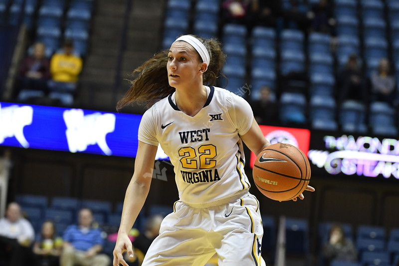The Women's Basketball Team plays Bucknell in the first round of the NIT Tournament at the Coliseum in Morgantown, Wv March 15th, 2018.  Photo Brian Persinger
