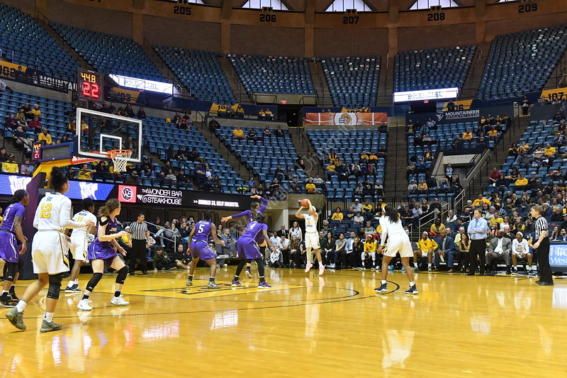 The Womens Basketball team hosts James Madison University in the Third Round of the NIT at the Coliseum March 23rd, 2018.  Photo Brian Persinger