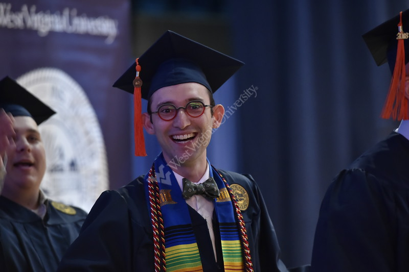 Students of the Statler College of Engineering receive their degrees in the Coliseum on May 12, 2018.