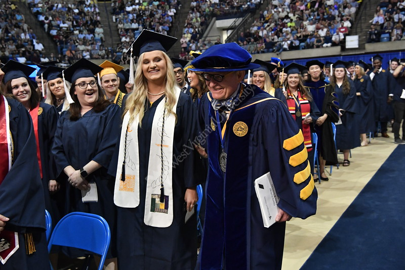 Eberly College students take place in the  Eberly Bachelor Commencement May 13, 2018. Photo Greg Ellis