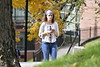 Student enjoy the unseasonably warm weather on the Downtown Campus WVU November 1, 2018. Photo Greg Ellis