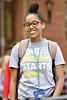 Student enjoy the unseasonably warm weather on the Downtown Campus WVU November 1, 2018. Photo Greg Ellis