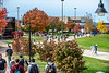 Students, staff and faculty on the Evansdale campus November 1st, 2018.  Photo Brian Persinger
