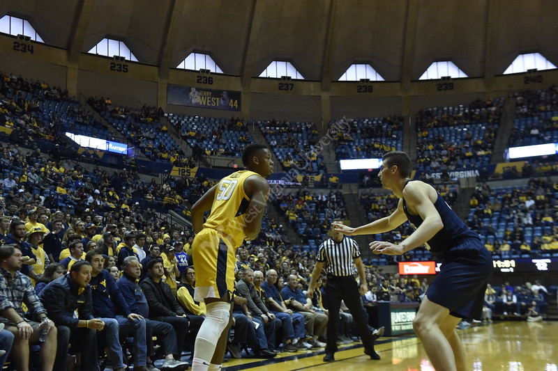 WVU Men's Basketball faces Penn State at Coliseum on November 3, 2018.