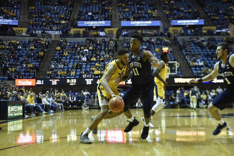 WVU Men's Basketball faces Penn State at Coliseum on November 3, 2018.