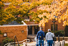 A prospective student and their family walk campus during Discover WVU.