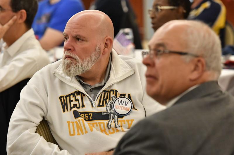Members of the WVU Veterans Community come togather for breakfast at the Erickson Alumni Center, Veterans Appreciation Breakfast  November 9, 2018.Photo Greg Ellis