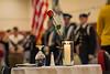 WVU ROTC present tne Colors in fornt of the POW MIA  Missing Solider table Ericksion Alumni Center Veterans appereciation breakfast November 9, 2018. Photo Greg Ellis