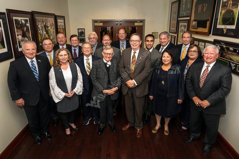 Members of the WVU BOG pose fpor a photo at the Erickson Alumni Center November 9, 2018. Photo Greg Ellis