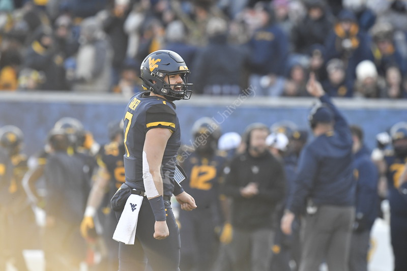 The Mountaineer Football team hosts TCU at Mountainer Field November 10th, 2018.  Photo Brian Persinger