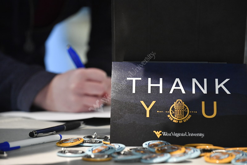 "WVU holds their second annual, ""Day of Giving"" campaign on campus November 14th, 2018.  Photo Brian Persinger"