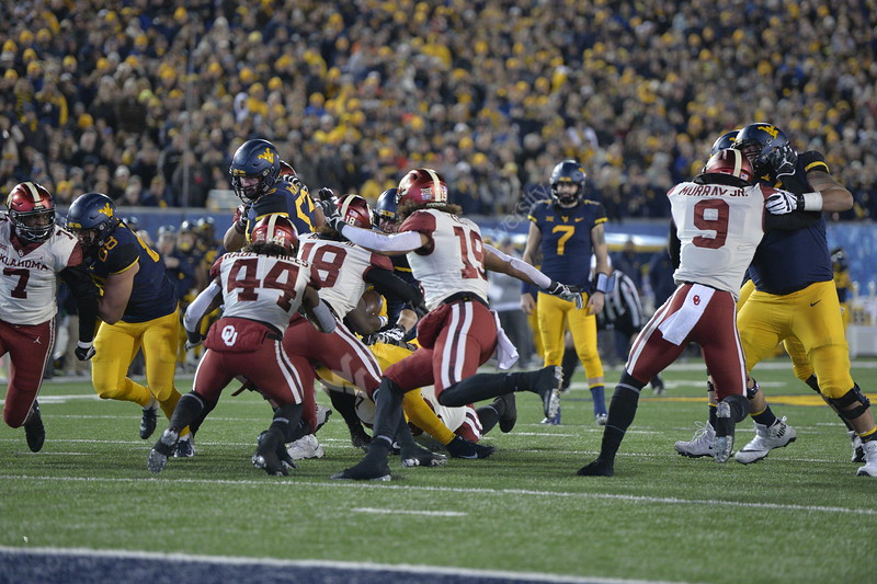WVU Football played Oklahoma in Morgantown on November 23, 2018. Oklahoma won the game 59-56.