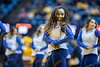 Members of the Dance Team perform during half time of the Mens Basketball game against Valpo at the Coliseum in Morgantown November 24th, 2018.  Photo Brian Persinger