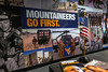 The walls of the WVU Veteran and Military Family Support Headquarters is wrapped with military lifestyle scenes. The Support Headquarters located in the WVU Mountain Lair will provide academic and social support to student Veterans and their families. November 26, 2018. Photo Greg Ellis
