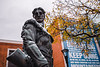 The Mountaineer Statue gets a dusting of snow in November.