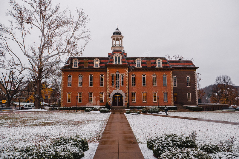 Martin Hall on a snowy day.