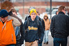 Students battle the elements on their way to class on the Evansdale campus.